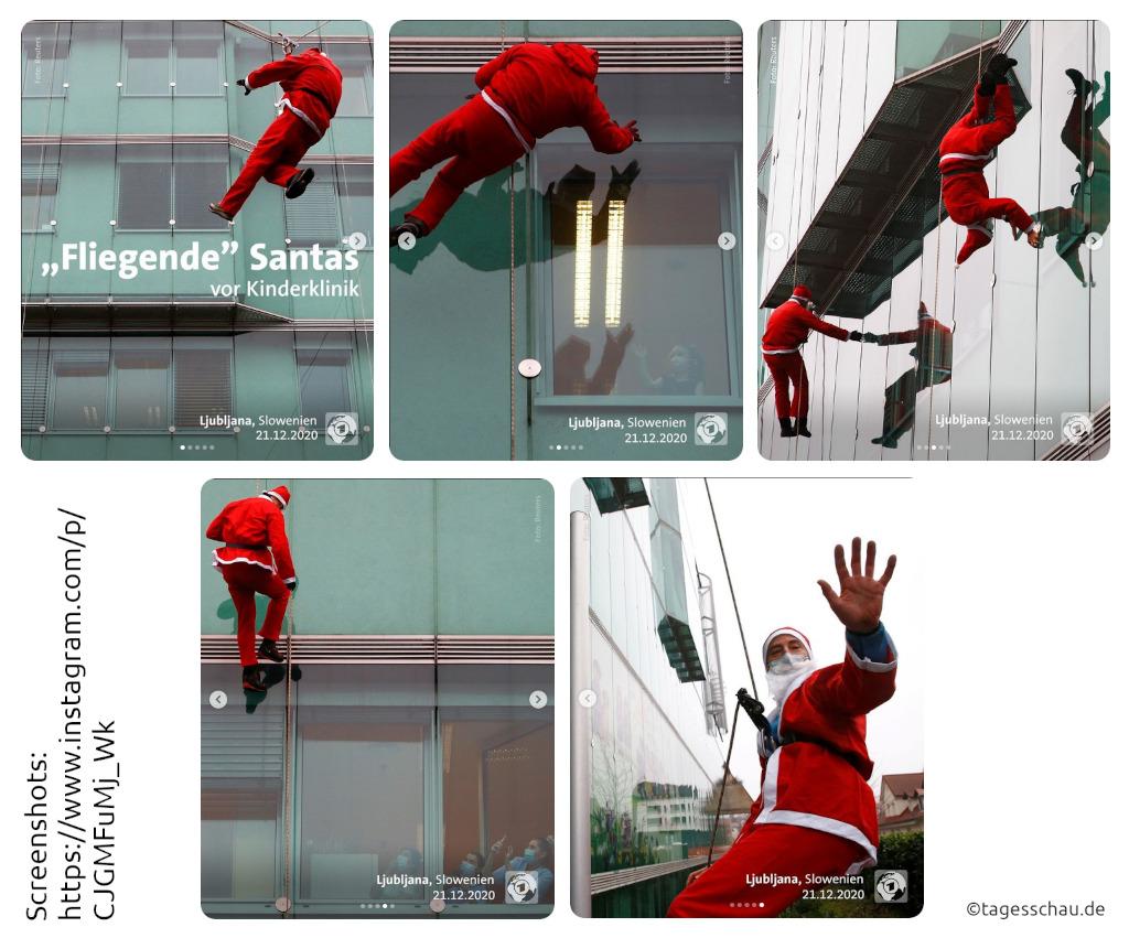 Kommt ein Weihnachtsmann geflogen...